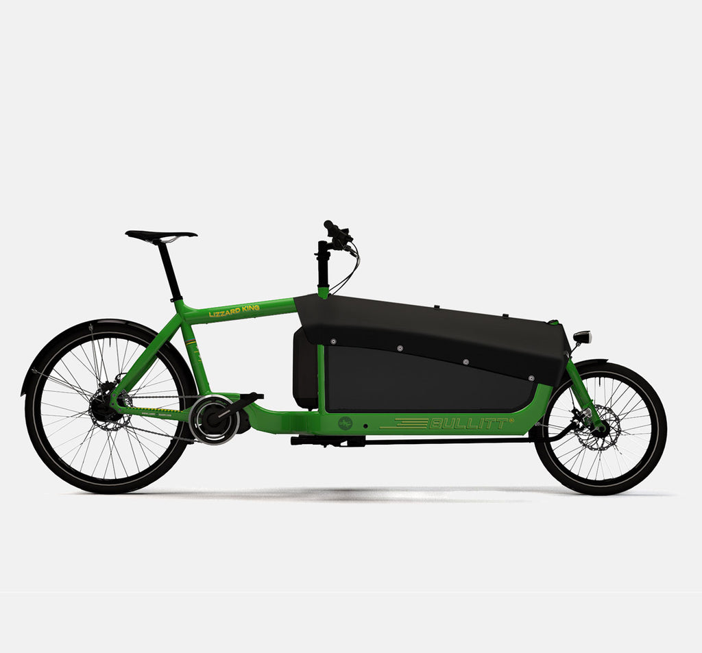LARRY VS HARRY BULLITT SHIMANO STEPS E6000 CARGO BIKE WITH CARGO PACK IN LIZARDKING GREEN