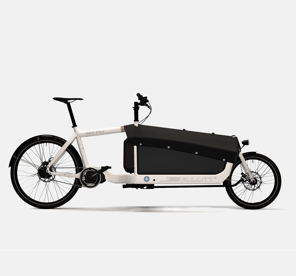 LARRY VS HARRY BULLITT SHIMANO STEPS E6000 CARGO BIKE WITH CARGO PACK IN MILK PLUS WHITE