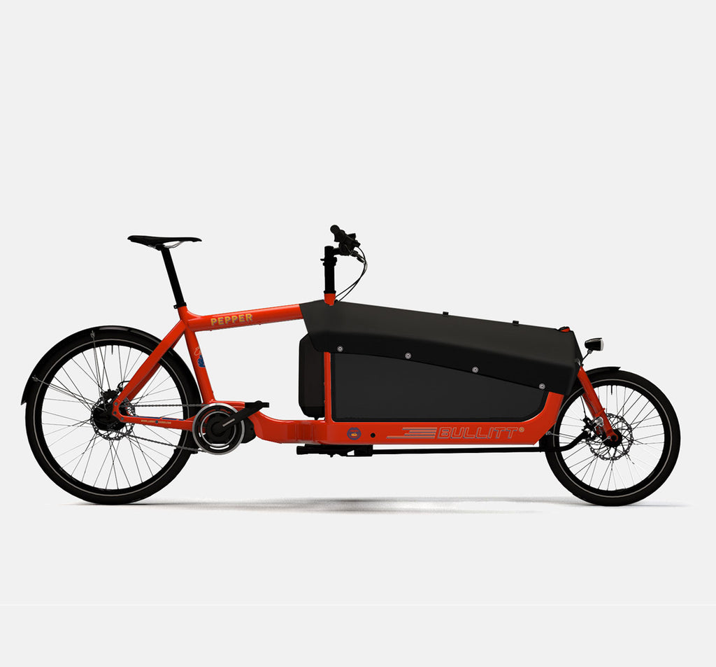 LARRY VS HARRY BULLITT SHIMANO STEPS E6000 CARGO BIKE WITH CARGO PACK IN PEPPER RED