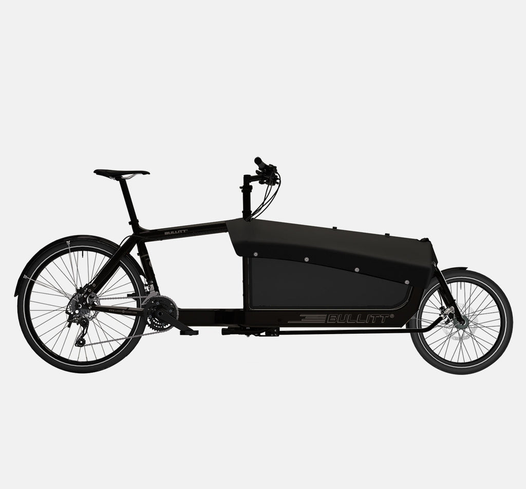 LARRY VS HARRY BULLITT CARGO BIKE WITH CARGO PACK IN CLASSIC BLACK WITH SHIMANO XT 22 DRIVETRAIN