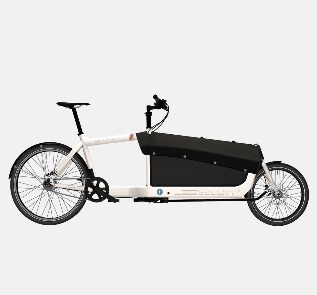 LARRY VS HARRY BULLITT CARGO BIKE WITH CARGO PACK IN MILK PLUS WHITE WITH SHIMANO ALFINE 8 DRIVETRAIN
