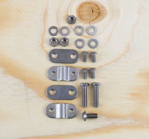 COMPLETE 3/6 SPD AXLE NUT KIT - TITANIUM