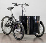 Nihola Low Cargo Trike - Front Angle Shot - Curbside