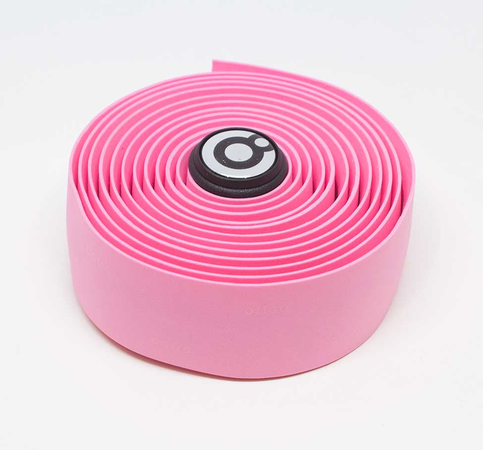 OCTTO BICYCLE GEL HANDLEBAR TAPE IN BRIGHT PINK