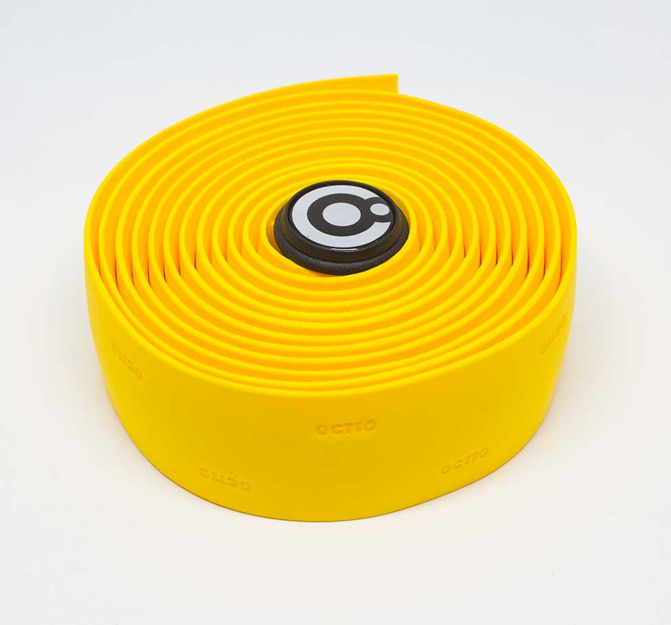 OCTTO BICYCLE GEL HANDLEBAR TAPE IN BRIGHT YELLOW