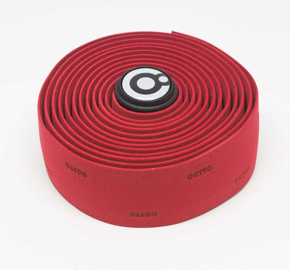 OCTTO BICYCLE GEL HANDLEBAR TAPE IN DARK RED