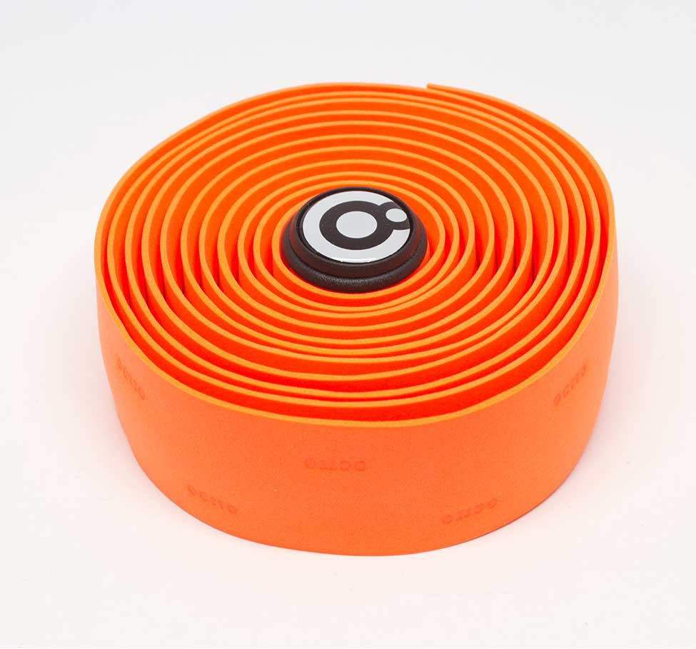 OCTTO BICYCLE GEL HANDLEBAR TAPE IN FLUOROSCENT ORANGE