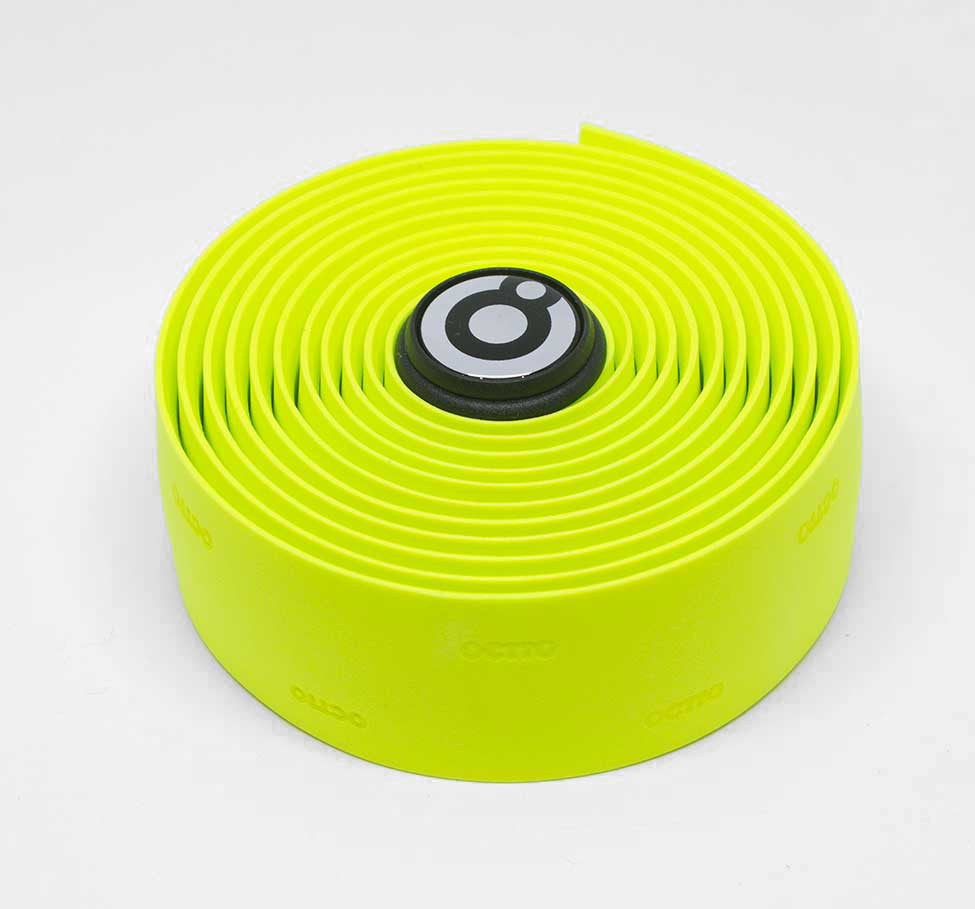 OCTTO BICYCLE GEL HANDLEBAR TAPE IN FLUOROSCENT YELLOW