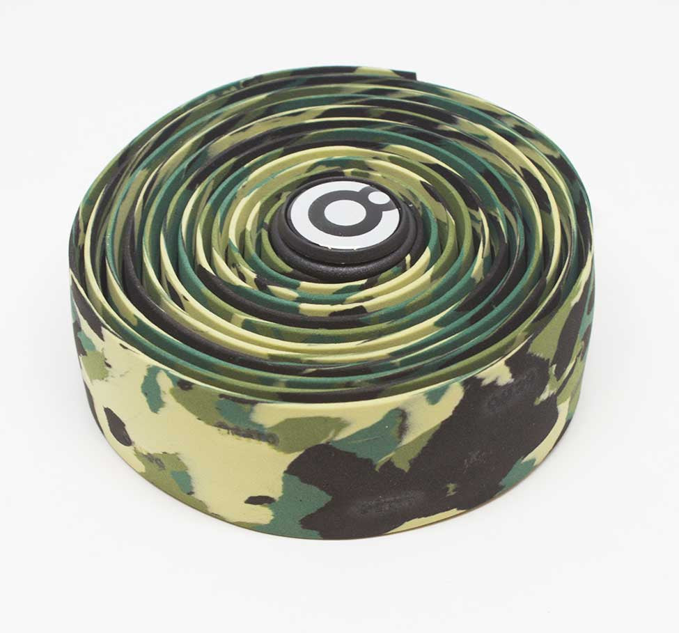 OCTTO BICYCLE GEL HANDLEBAR TAPE IN GREEN CAMO
