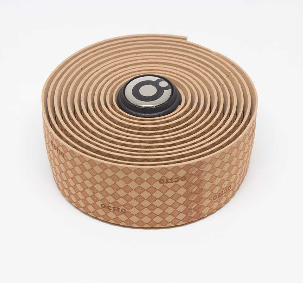 OCTTO BICYCLE GEL HANDLEBAR TAPE IN WOVEN BROWN