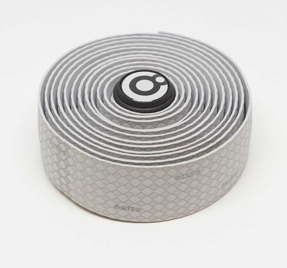 OCTTO BICYCLE GEL HANDLEBAR TAPE IN WOVEN SILVER