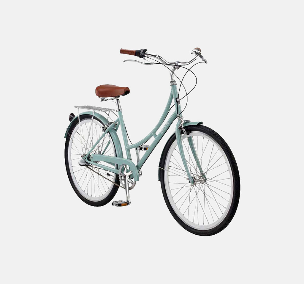 PURE CITY CROSBY MINT GREEN AND WHITE STEP THROUGH BICYCLE