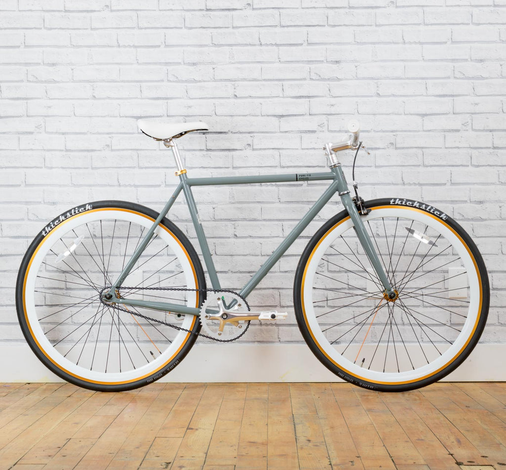 PURE FIX ORIGINAL FIXIE SINGLE SPEED BIKE IN FOXTROT GREY GOLD