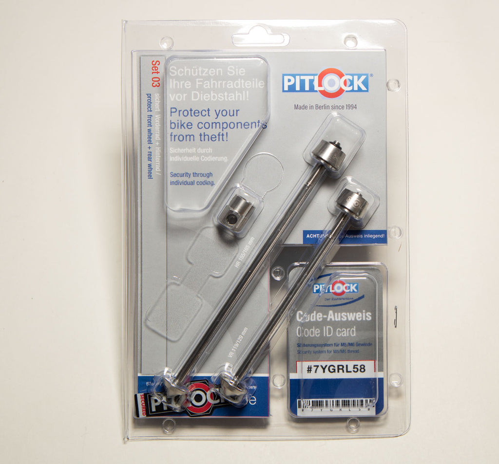 Pitlock Set 03 for Front and Rear Wheels in Packaging