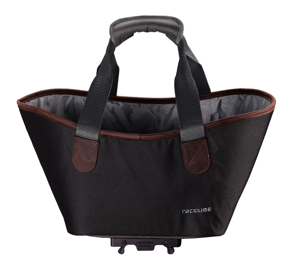 Racktime Agentha Bicycle Pannier Tote in Carbon Black