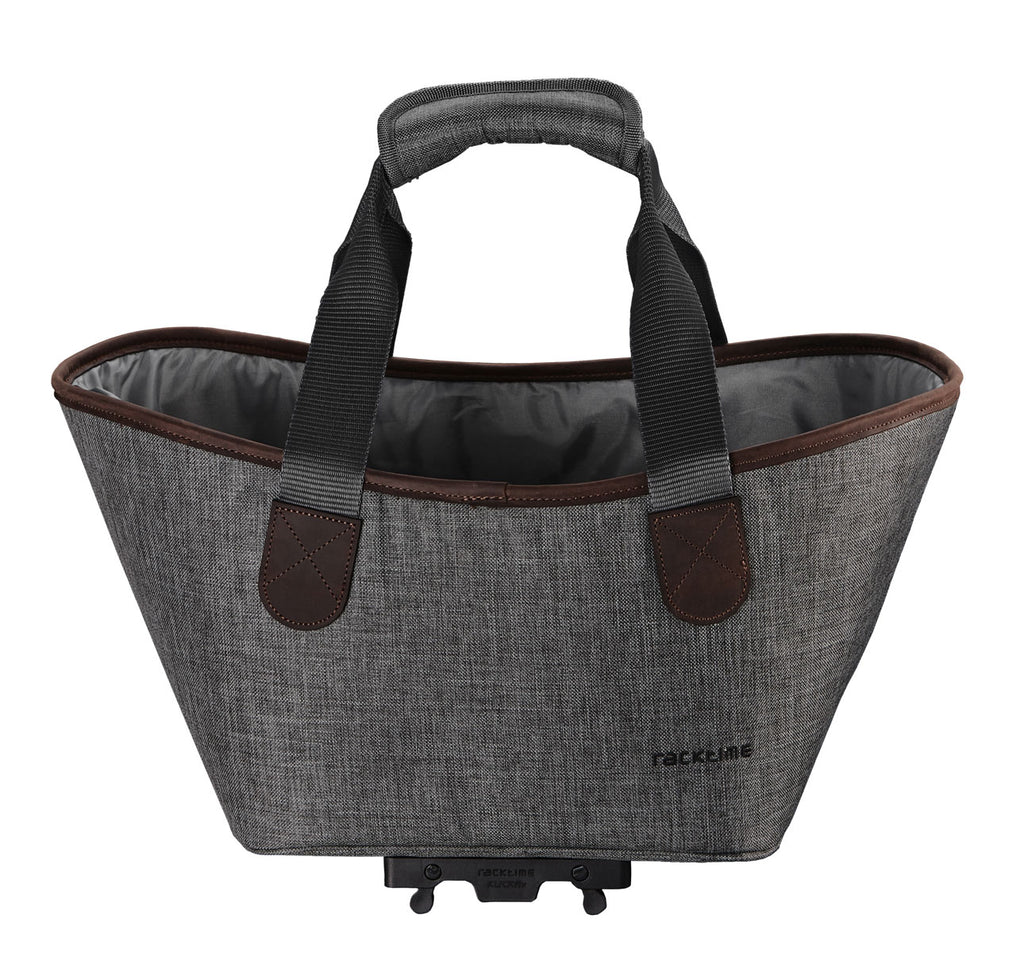 Racktime Agentha Bicycle Pannier Tote in Dust Grey