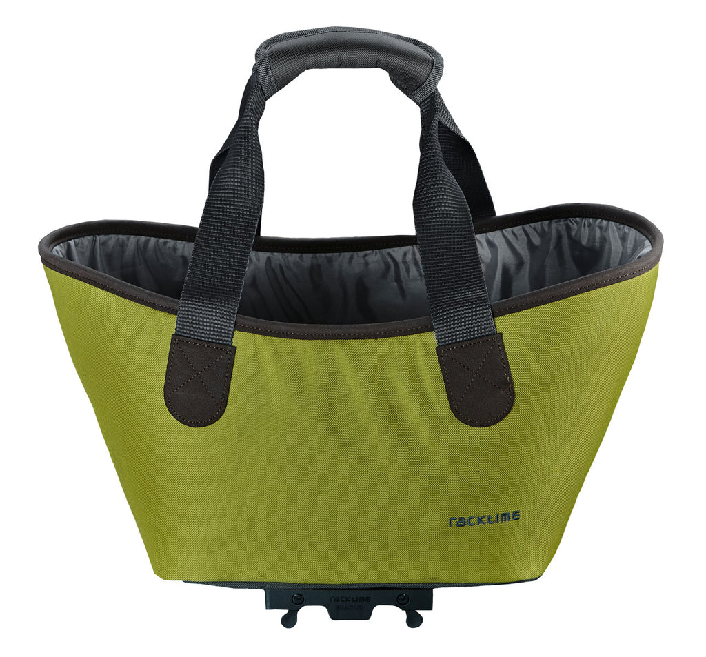 Racktime Agentha Bicycle Pannier Tote in Lime Green