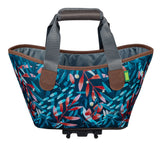 Racktime Agentha Bicycle Pannier Tote in Midnight Flowers