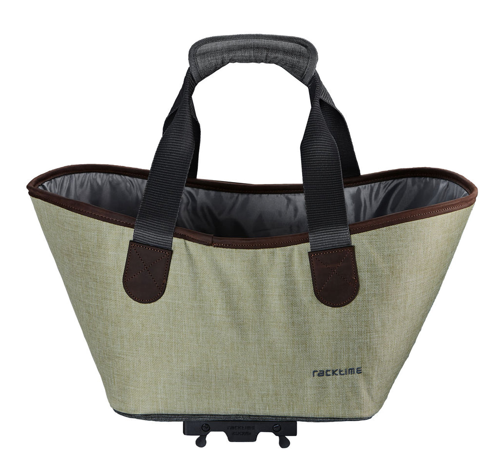 Racktime Agentha Bicycle Pannier Tote in Peat Bog Green