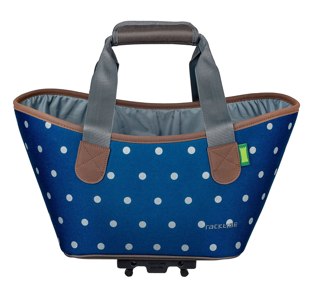 Racktime Agentha Bicycle Pannier Tote in Polka Dots