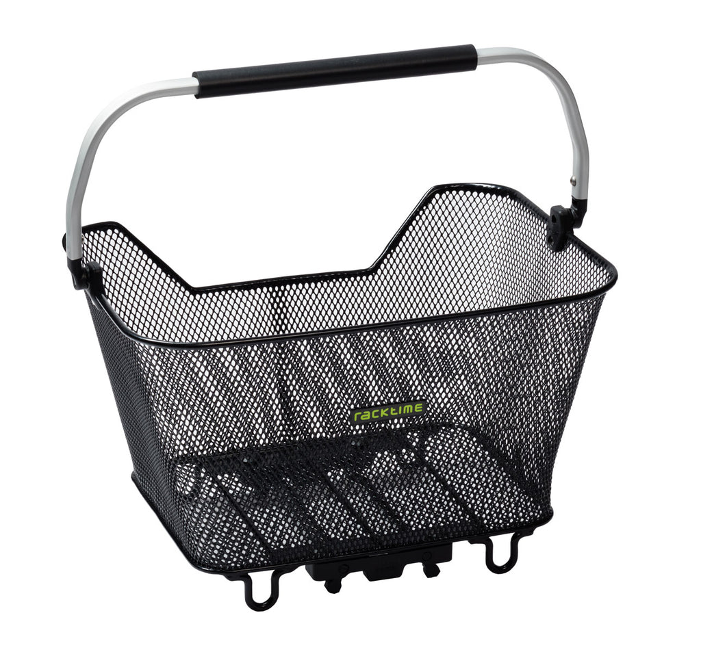 Racktime Baskit Deluxe Rear Bicycle Basket in Black