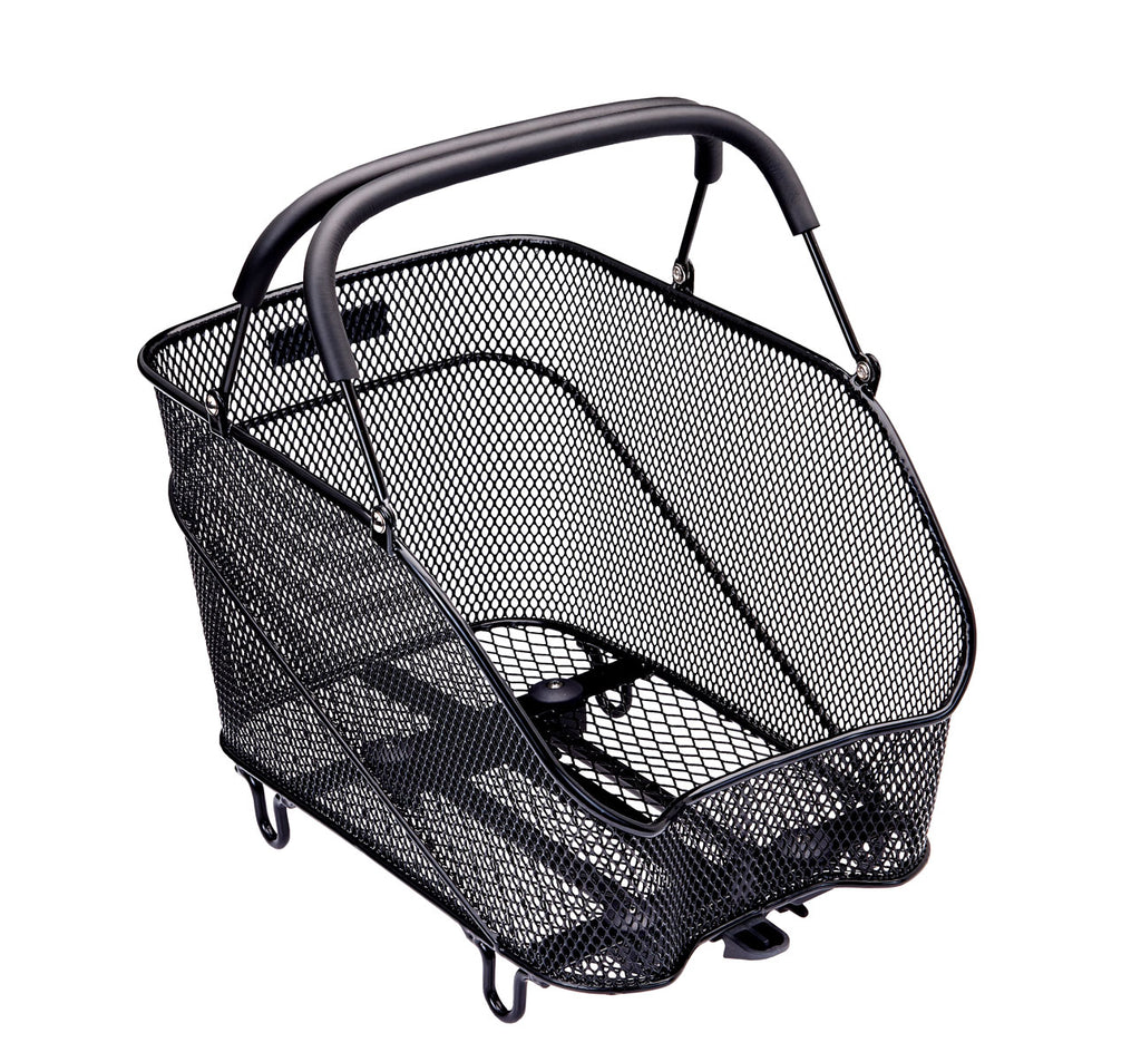 Racktime Baskit Trunk Rear Basket Small in Black with Handles