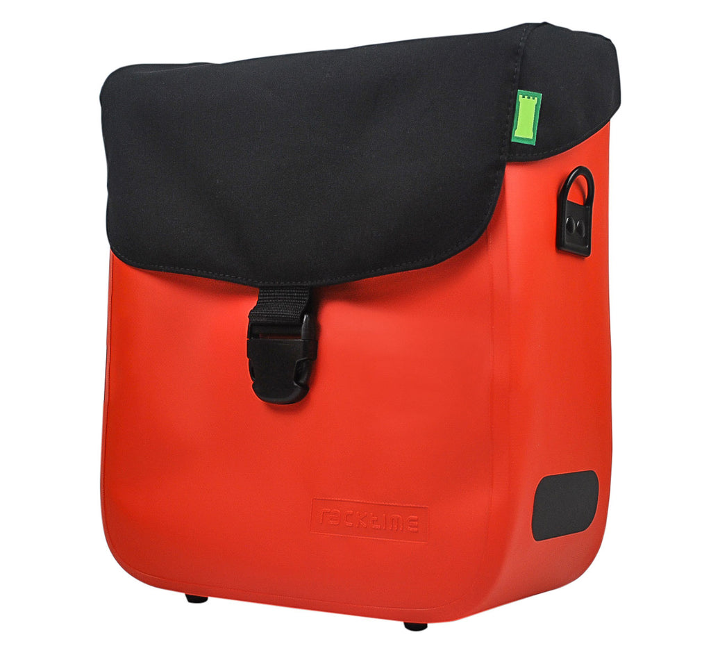 Racktime Tommy Waterproof Pannier Bag in Lava Orange