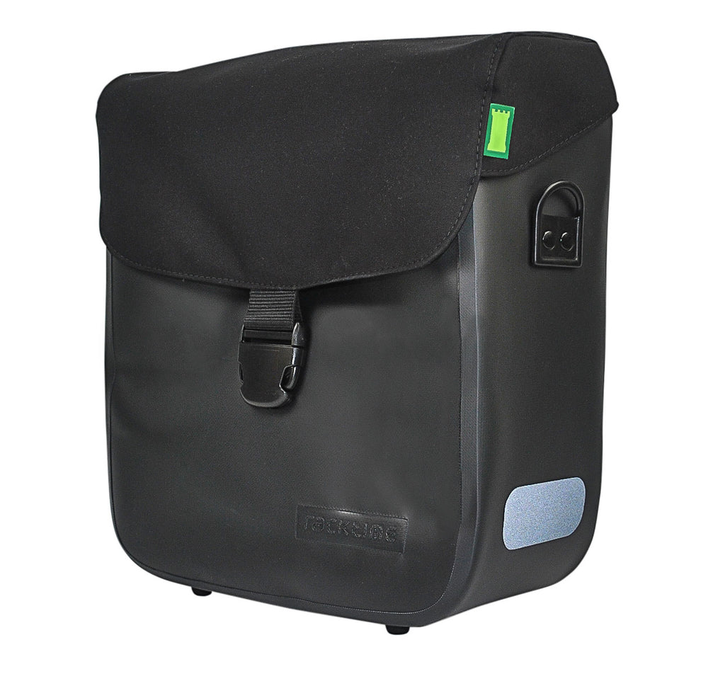 Racktime Tommy Waterproof Pannier Bag in Onyx Black