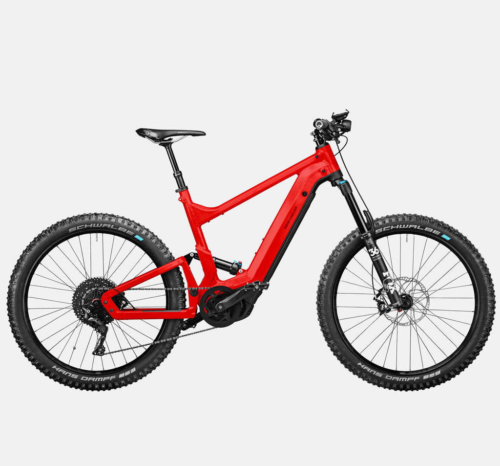 Riese & Muller Delite Mountain Touring E-Bike with Fox Full Suspension, Dropper Seatpost and Smartphone Hub in Chili Matte