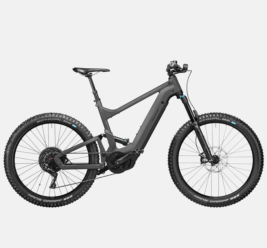 Riese & Muller Delite Mountain Touring E-Bike with Fox Full Suspension, Dropper Seatpost and Nyon / Kiox Cockpit in Urban Grey Matte