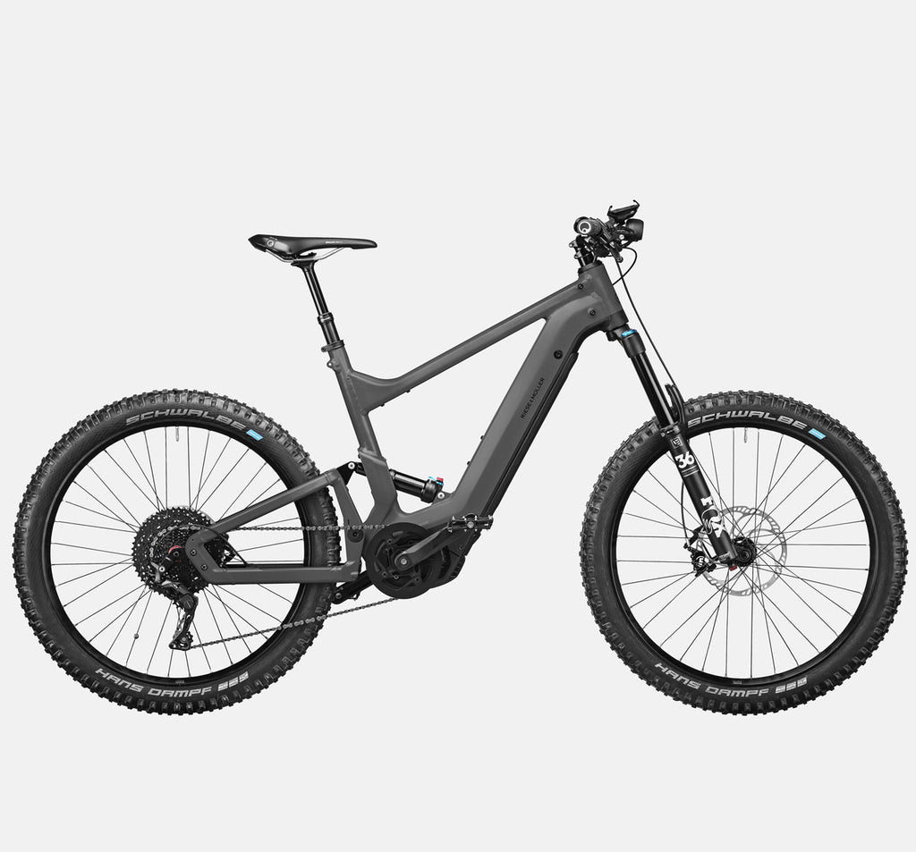Riese & Muller Delite Mountain Touring E-Bike with Fox Full Suspension, Dropper Seatpost and Smartphone Hub in Urban Grey Matte