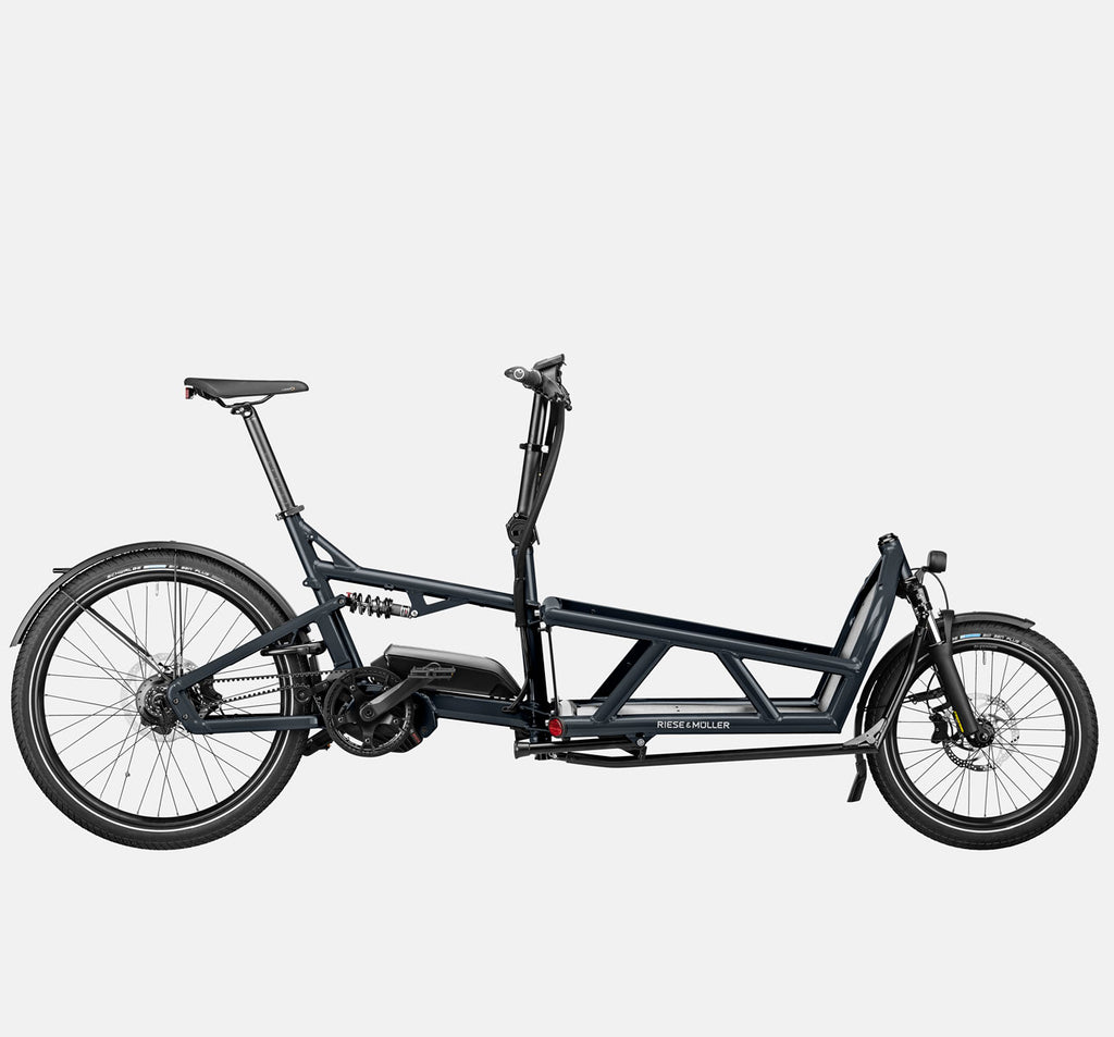 Riese & Muller Load 60 Full Suspension E-Cargo Bike in Coal Grey Matte