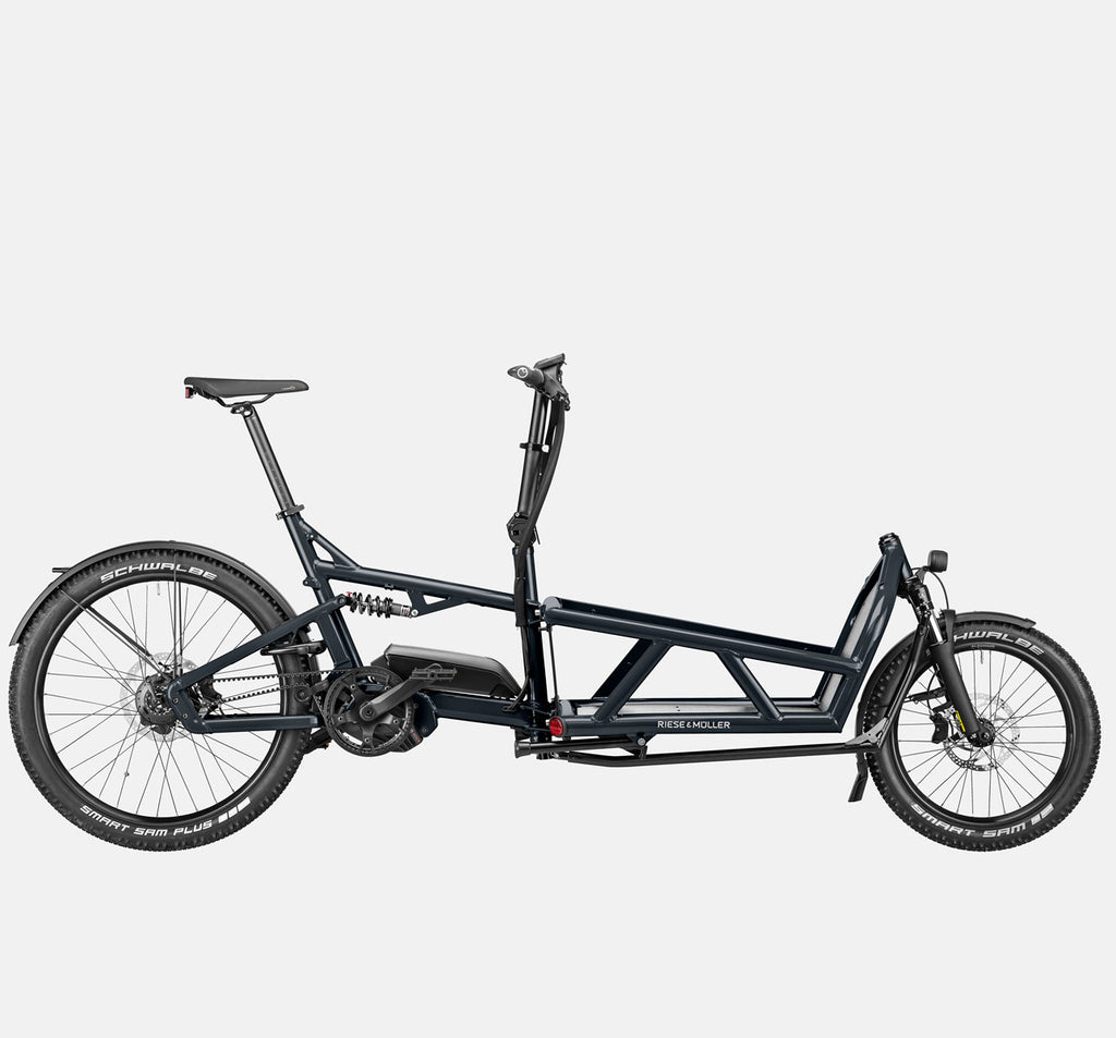 Riese & Muller Load 60 Full Suspension E-Cargo Bike in Coal Grey Matte - GX Option