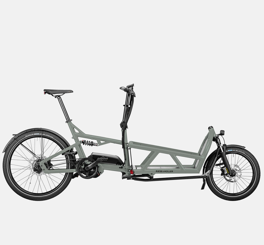 Riese & Muller Load 60 Full Suspension E-Cargo Bike in Tundra Grey Matte