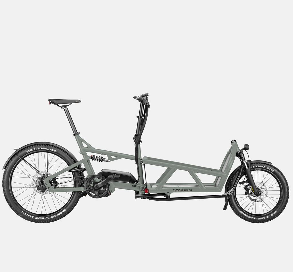 Riese & Muller Load 60 Full Suspension E-Cargo Bike in Tundra Grey Matte - GX Option