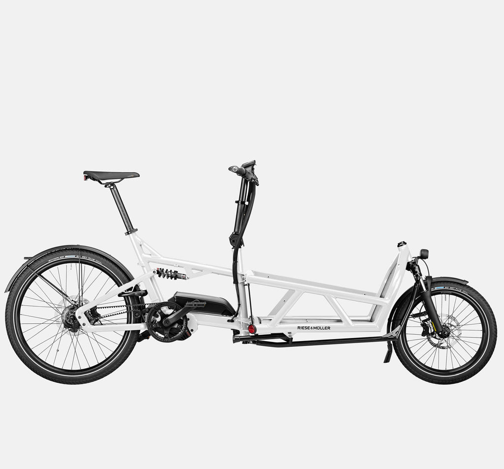 Riese & Muller Load 60 Full Suspension E-Cargo Bike in White Gloss