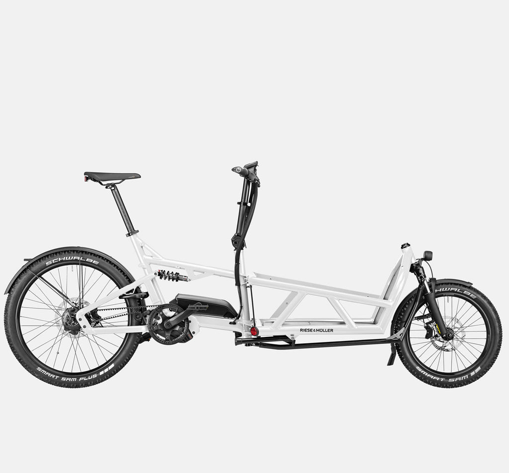 Riese & Muller Load 60 Full Suspension E-Cargo Bike in White Gloss - GX Option