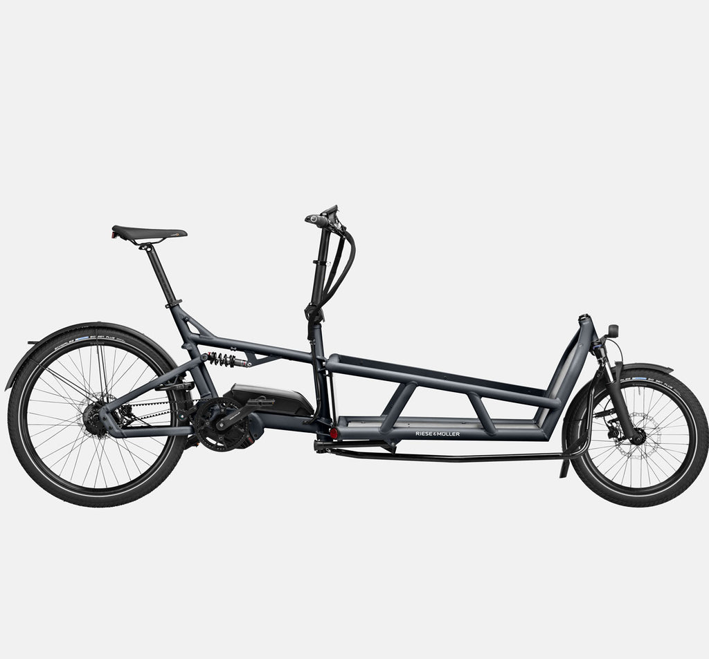 Riese & Muller Load 75 Rohloff E-Cargo Bike with Schwalbe Big Ben Tires in Coal Grey Matte