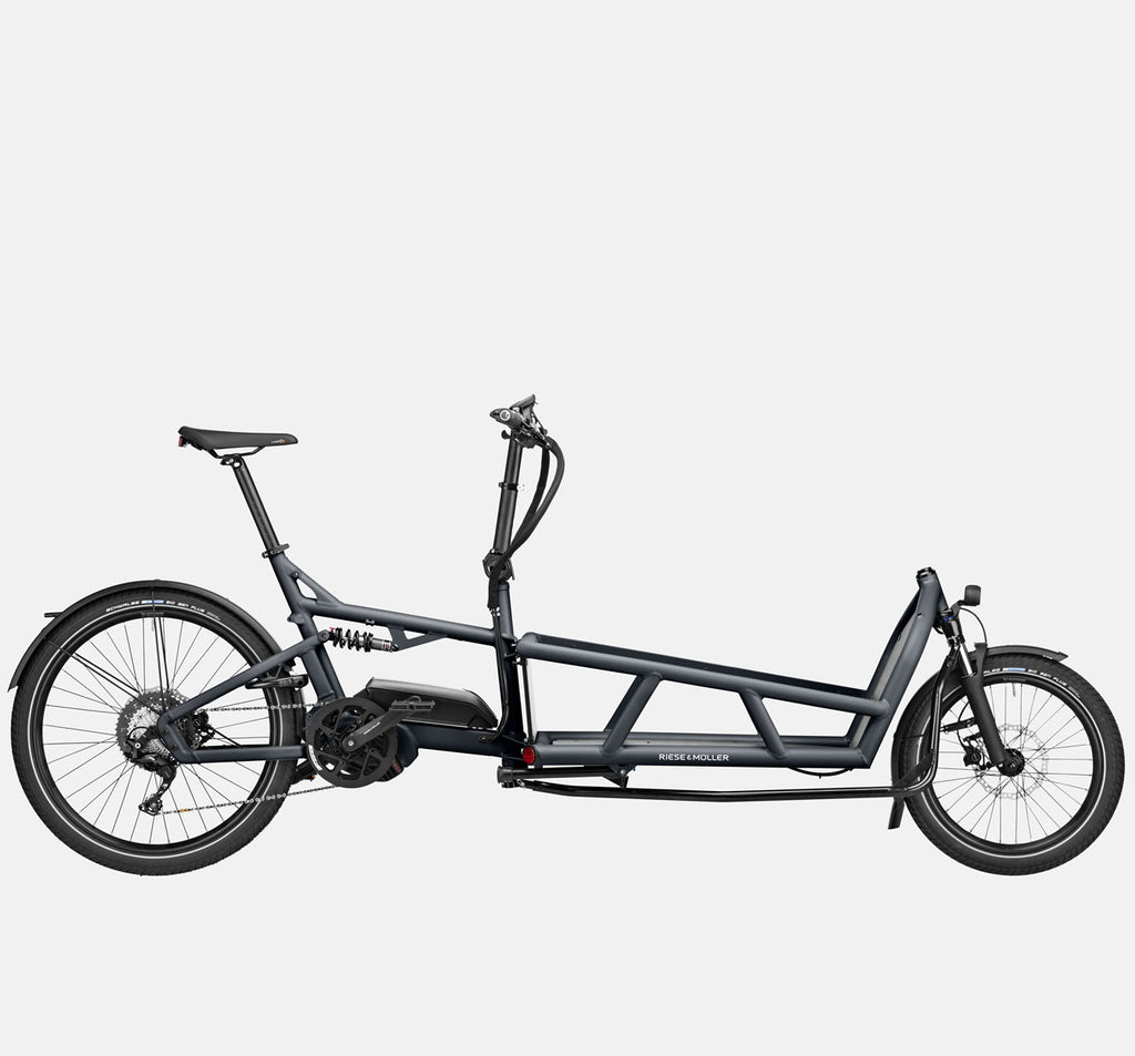 Riese & Muller Load 75 Touring Full Suspension E-Cargo Bike in Coal Grey Matte