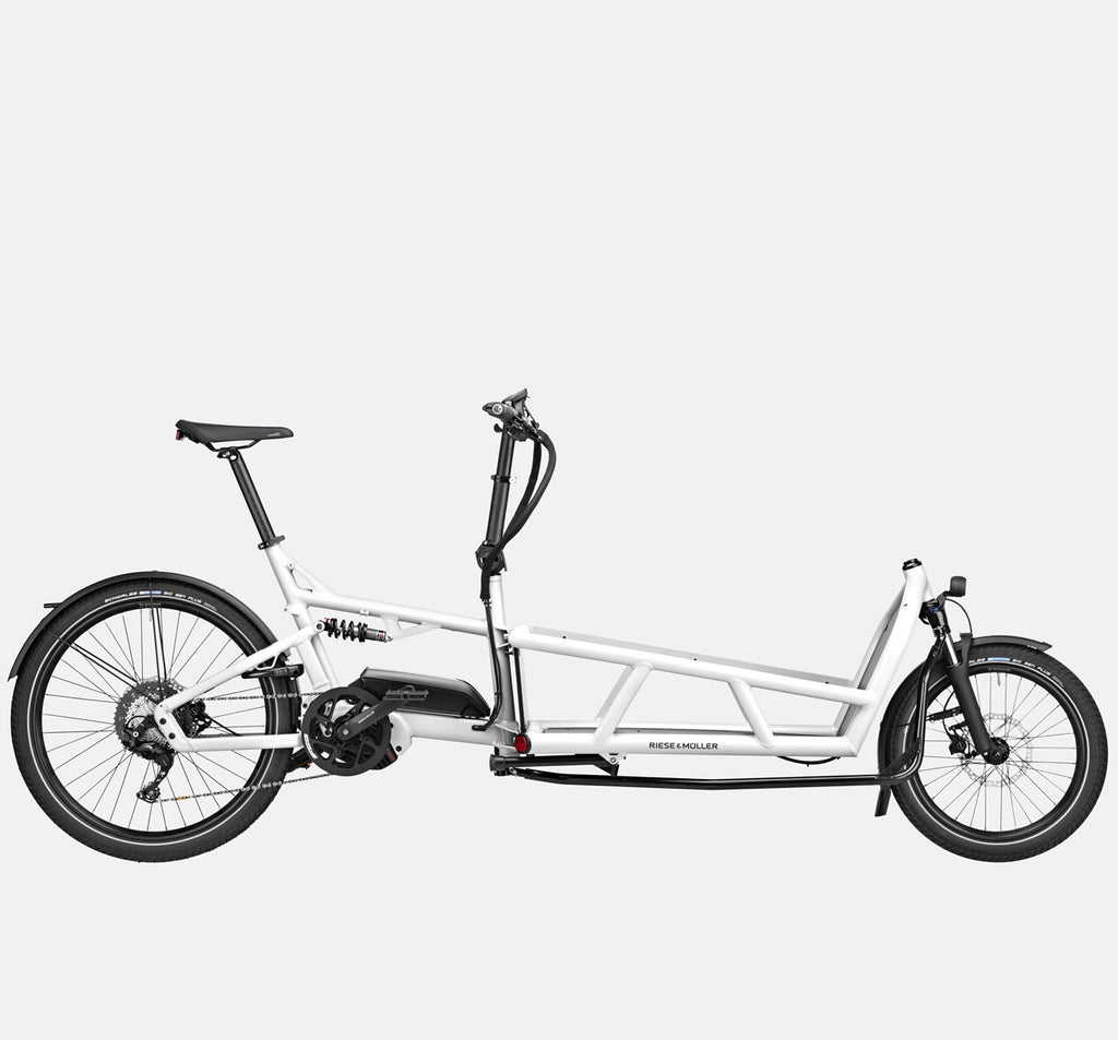 Riese & Muller Load 75 Touring Full Suspension E-Cargo Bike in White