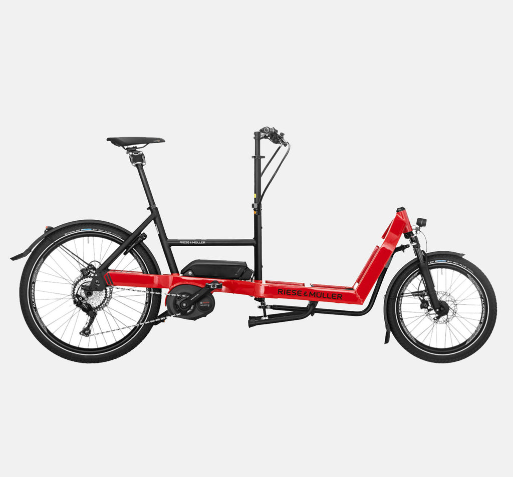 Riese & Muller Packster 40 Touring Suspension Cargo E-Bike in Racing Red