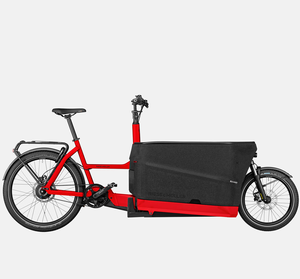 Riese & Muller Packster 70 Suspension Cargo E-Bike with Schwalbe SuperMoto-X Tires in Chili Matte