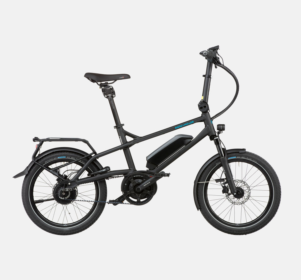 Riese & Muller Tinker Silent Vario City E-Bike with Thudbuster Seatpost in Black Matte