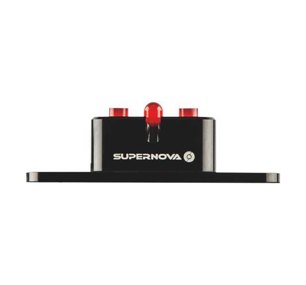 E3 TL2 REAR LIGHT - BLACK - 50MM RACK MOUNT - WIRE DOWN