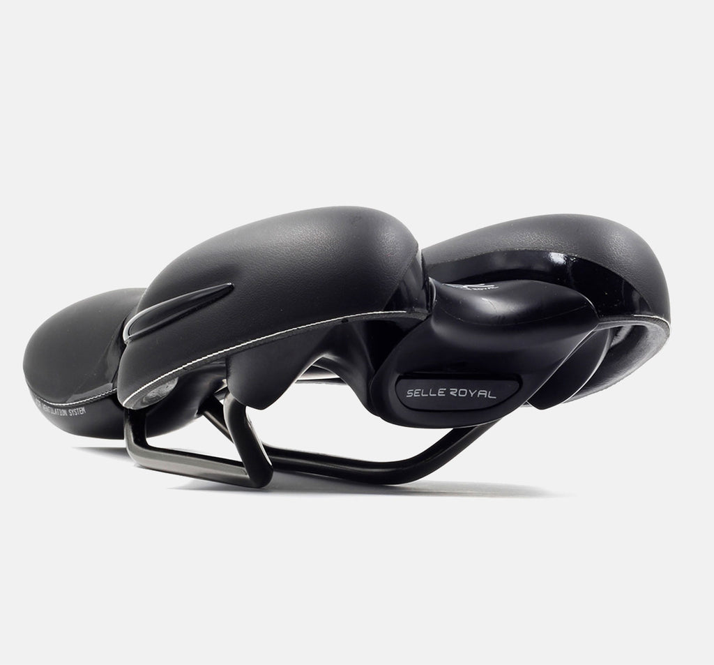 Selle Royal Respiro Athletic Saddle In Black - Rear View Of Bike Seat With Solid Construction And Supple Feel