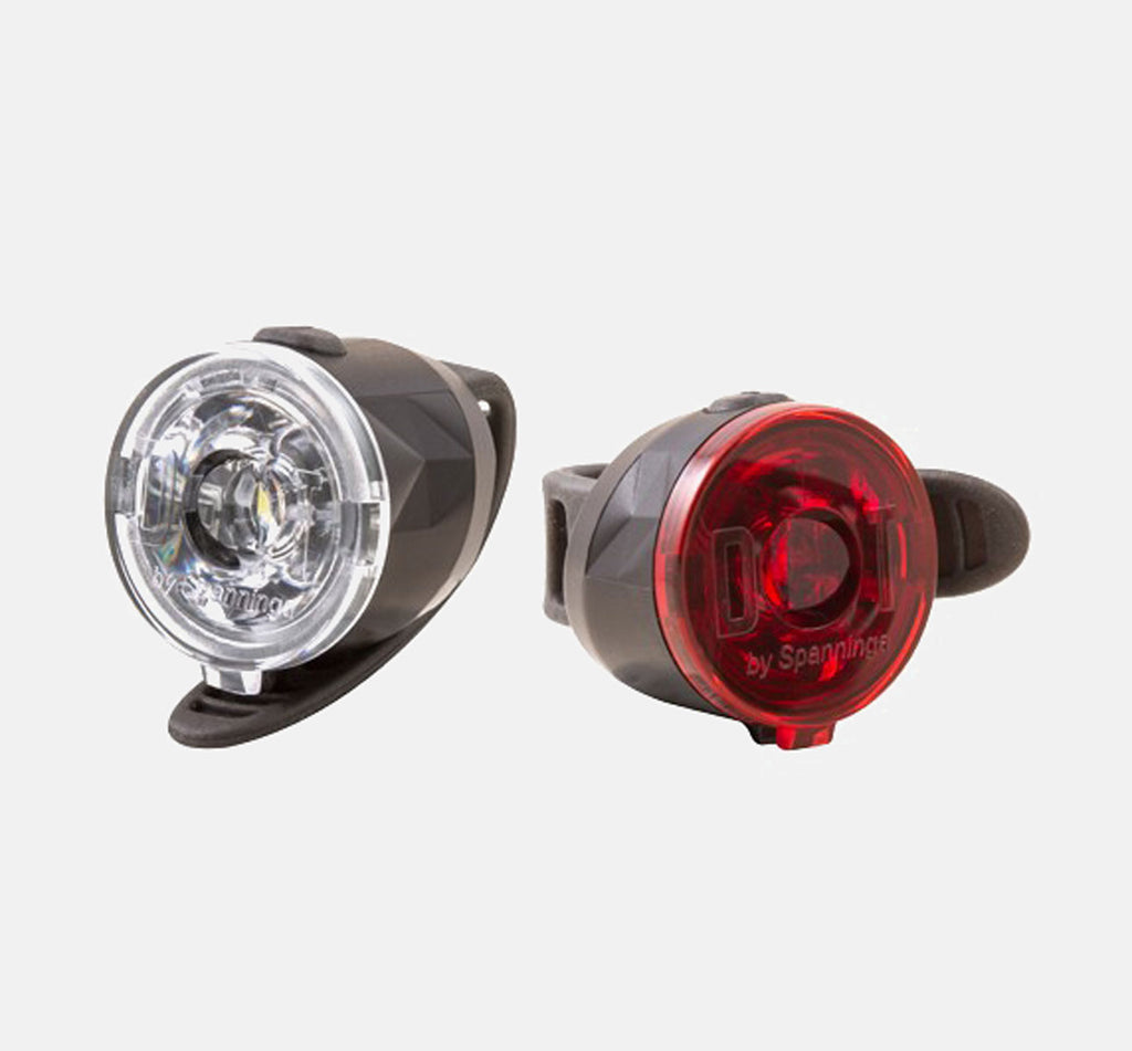 Spanninga Dot XB Bike Light Set - Front and Rear
