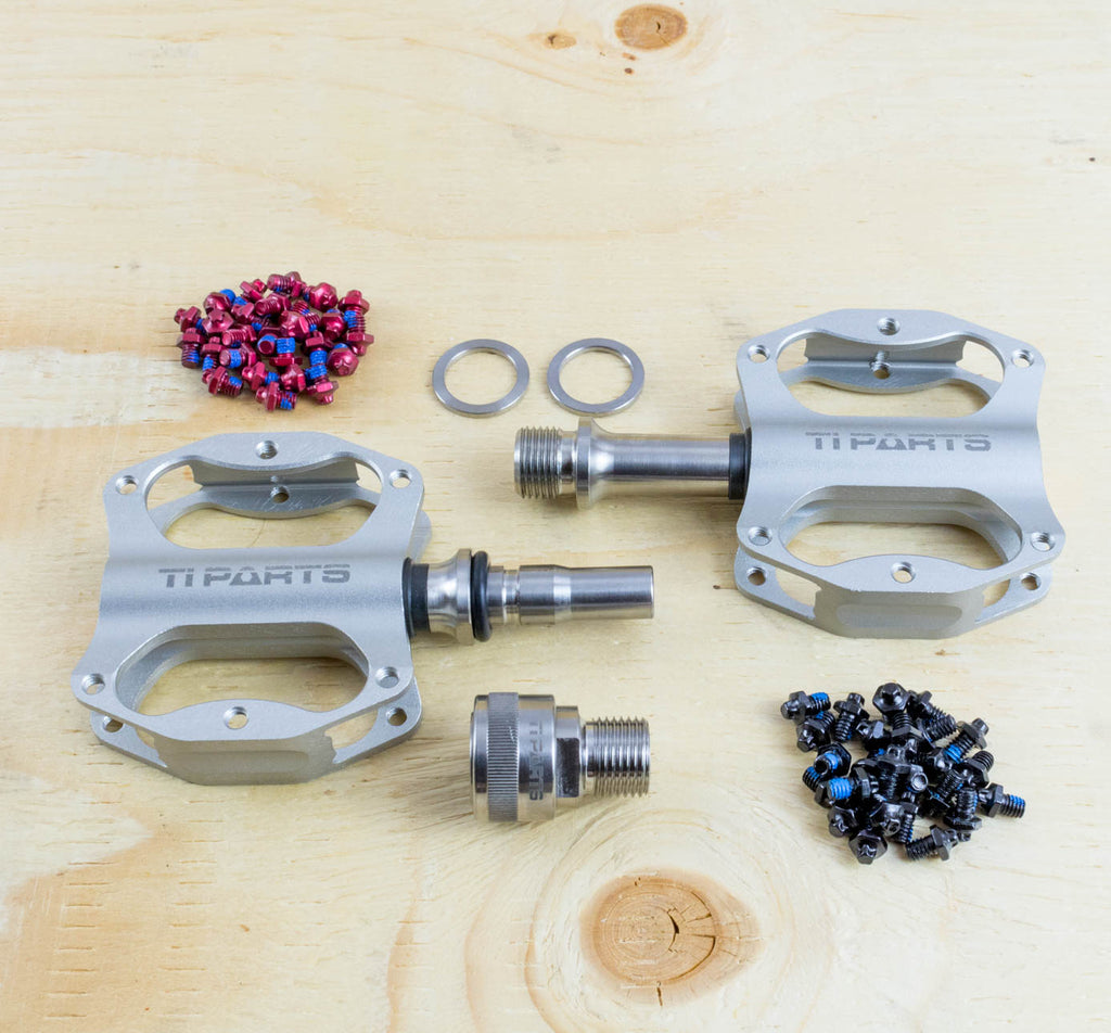 Ti Parts Workshop Mini Pedal with MKS Superior Axle in Silver