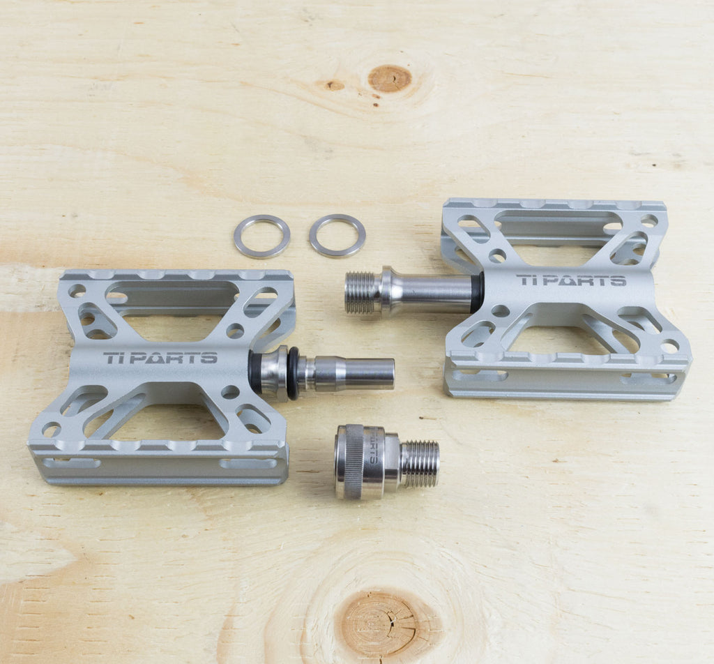 Ti Parts Workshop Double X Pedal with MKS Ezy Superior System in Silver