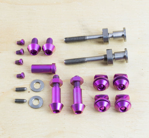REAR AXLE NUT KIT - TITANIUM