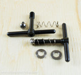 Ti Parts Workshop Balanced Hinge Clamp Levers - Black Titanium